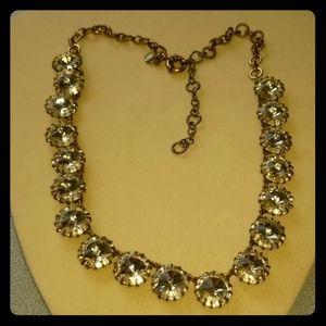 J. Crew Brass Plated rhinestone necklace